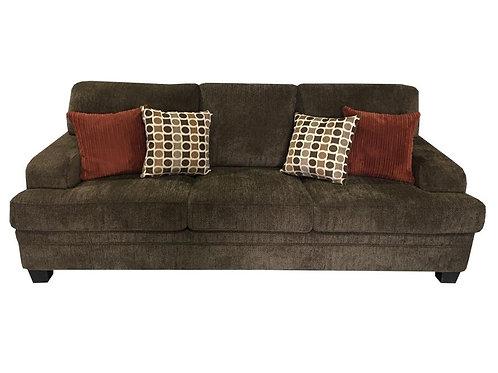 Brown Chenille Sofa