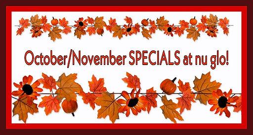 Oct & Nov Spa Specials at nu glo