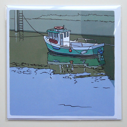 Little Green Boat at Amble card