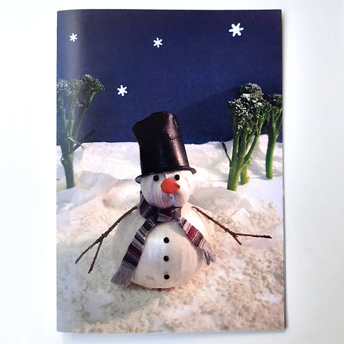Onion Snowman - Veg Series Card