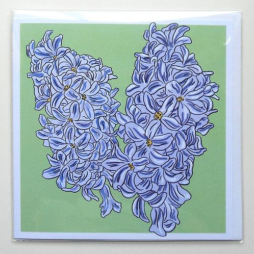 Hyacinths card
