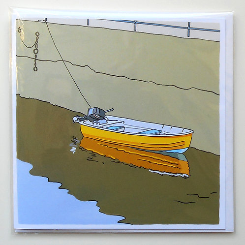 Little Yellow Boat at Killyleagh card