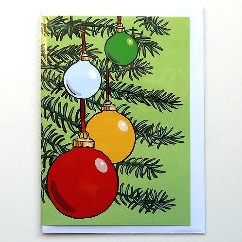 Baubles Christmas Card