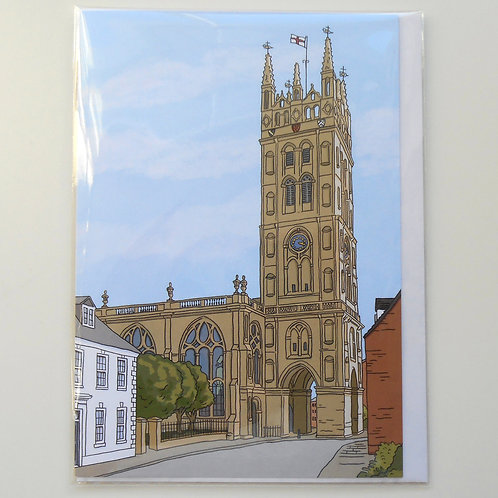St Mary's, Warwick, from Northgate Street card