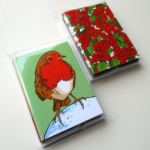 Christmas Cards: pack of 12 (4 designs)