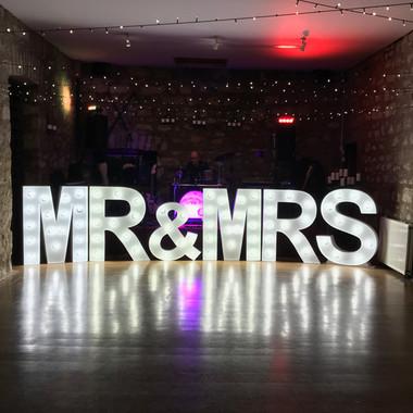 Mr & Mrs LED Letters