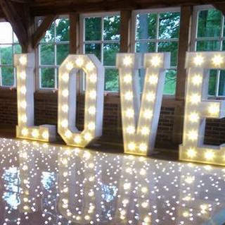 LED LOVE Letters & LED Dance Floor