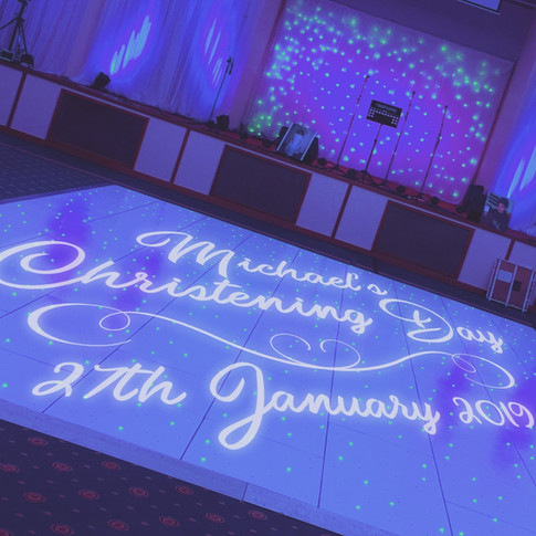 Gobo Projection Christening