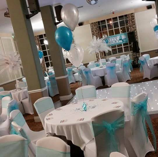 Balloons and Chair Covers