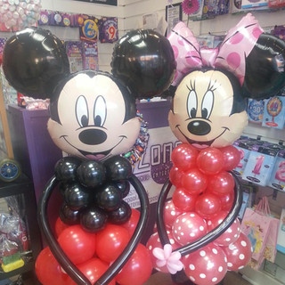 Micky Minnie Character Balloons