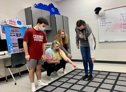 JAG KY Martin County students participating in the Carpet Maze Learning System.