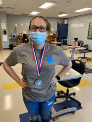Taylor Rowland of Morgan County High School displaying her second place medal from the 2021 CDC.