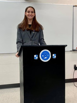 Lauren Horn, Martin County High School, prepares for the public speaking competition.