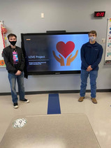 Alex Bargo and Brian Cantrell participated in the LOVE Project with Morgan County's JAG KY program.