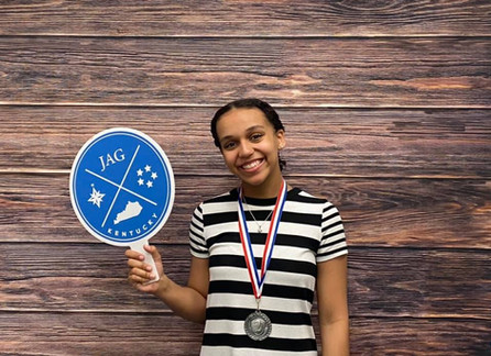 Elkhorn Crossing's Sarai Bray was excited to compete and place in her first time at CDC.