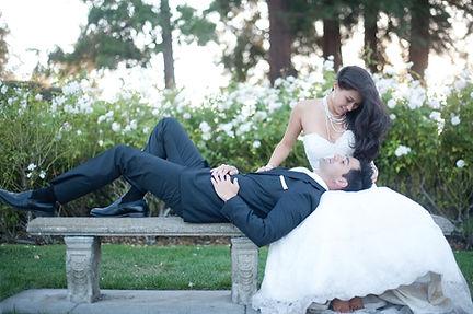 Bridal photo shoot Rose Garden San Jose