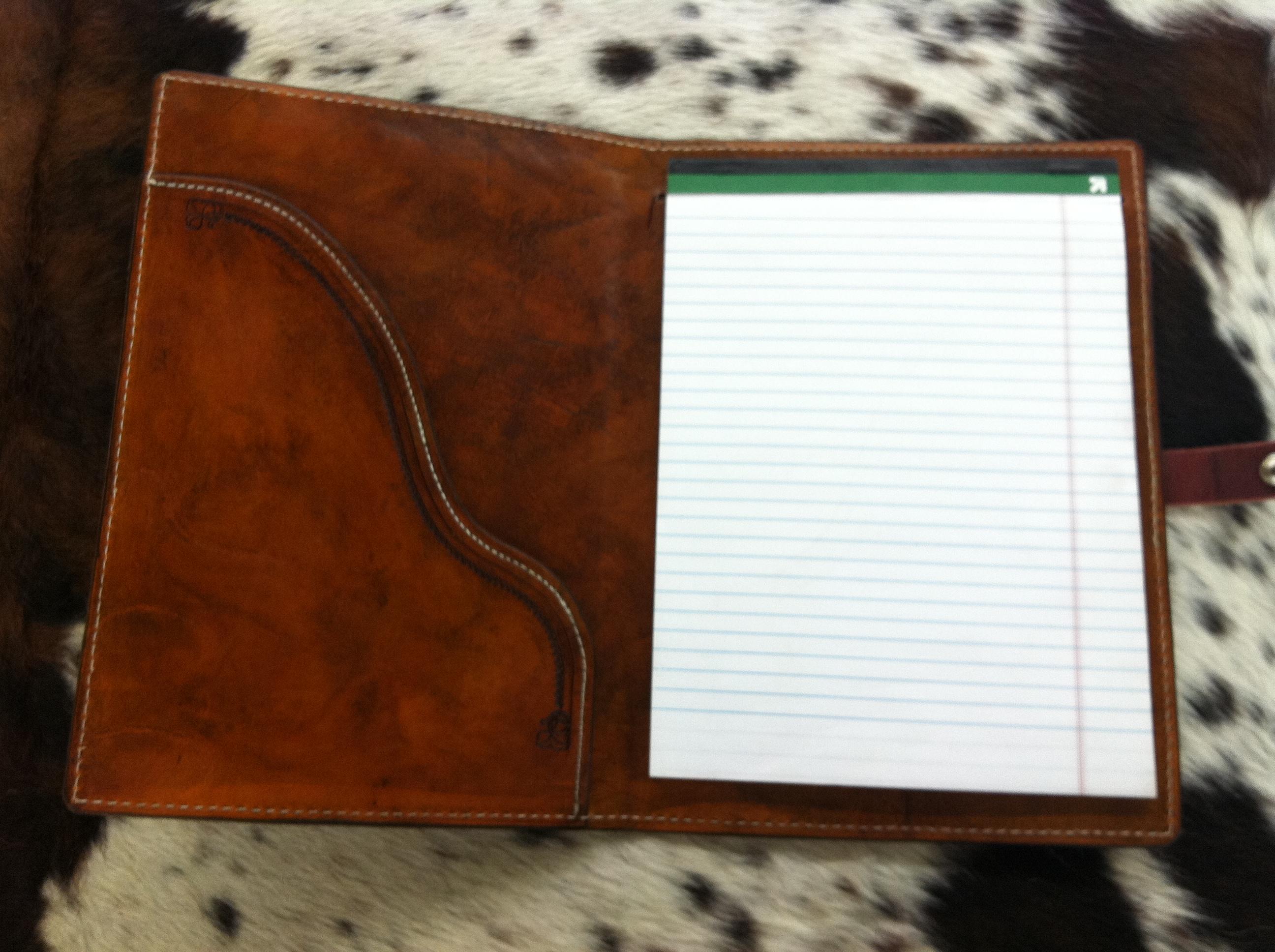 Inside of Custom Note Book