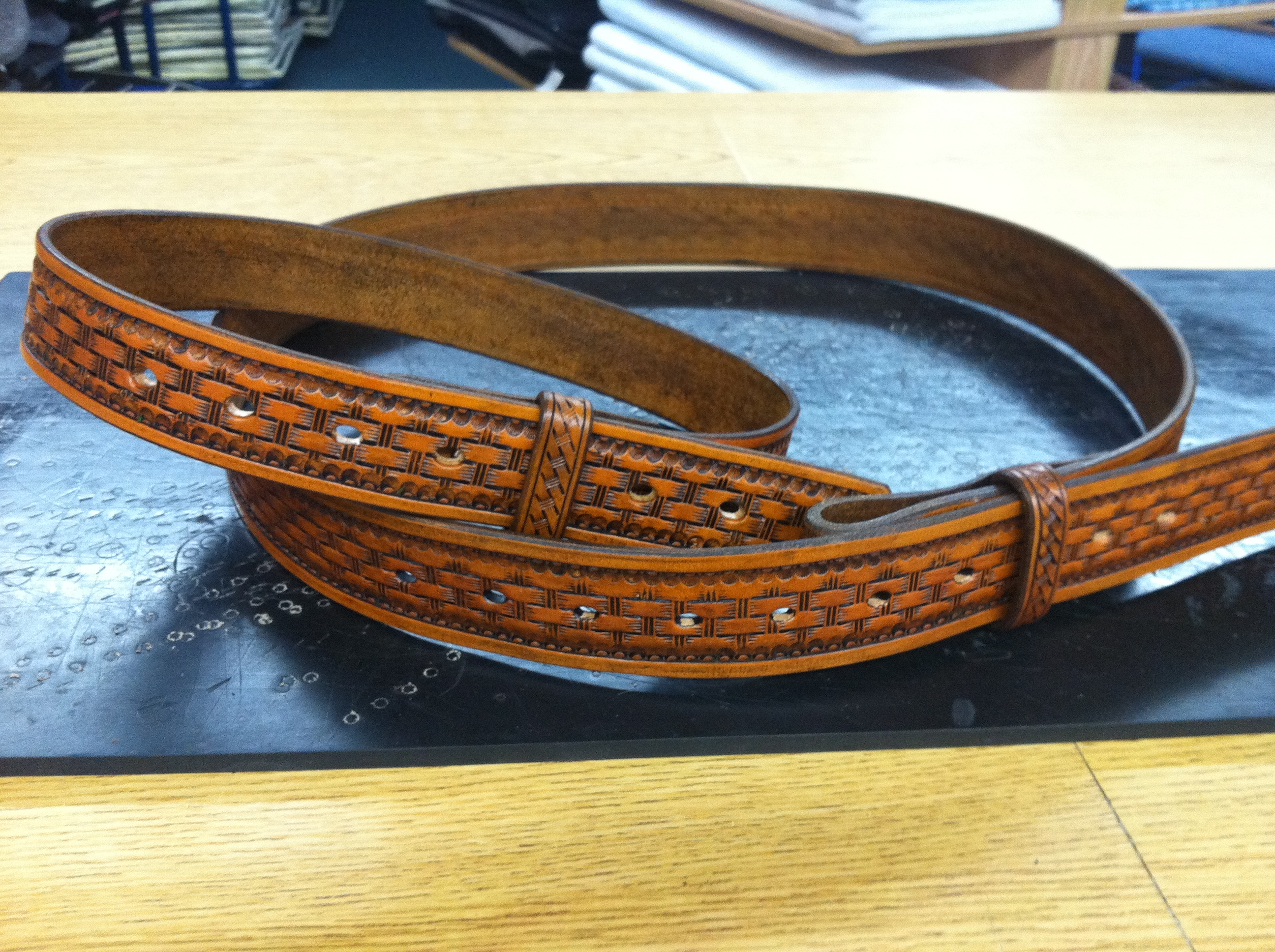 Custom Father Son Matching Belts