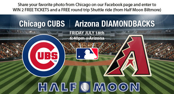 Win 2 Free Tickets to see the Diamondbacks vs Cubs in the