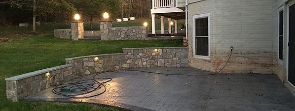 Haijoe stamped concrete patio Northern V