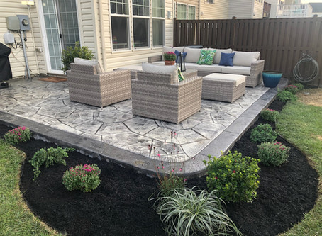 Beautiful stamped concrete patio from 2019.