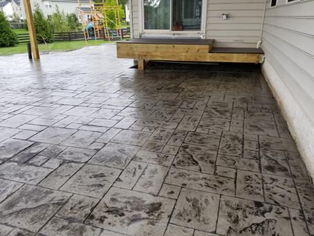 1200 SQFT Stamped Concrete Patio In Aldie VA