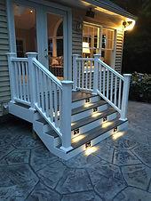 Trex decking, good life decking, deck, composite wood deck, LED lights, wood deck, tres deck, vinyl railin, white railing