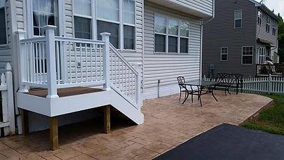 Composite wood decking, landing, maintenance free landing, trex decking, trex landing, trex railing, composte wood landing