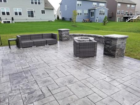 Haymarket Stamped Concrete Patio