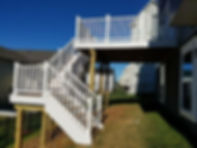 Trex deck, trex deckig, trex railing, trex outside deck, vinyl railing, wood deck, decks, big decks, landing, composit wood decking, good life decking,