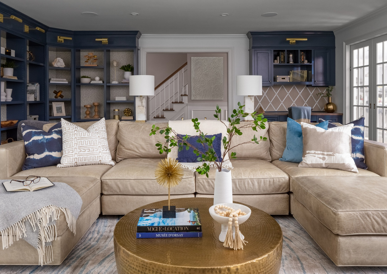 RYE NY CONTEMPORARY LIVING ROOM