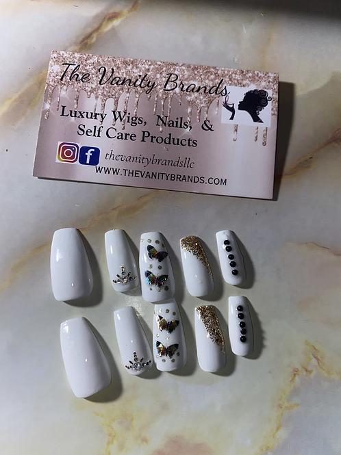 Snow White Press on Nails
