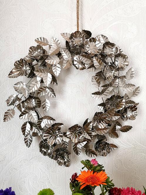 Metal Rose Wreath