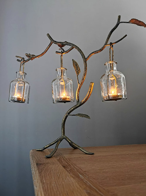 Ancient Gold Tealight Tree