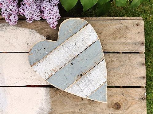 Small Rustic Grey Heart
