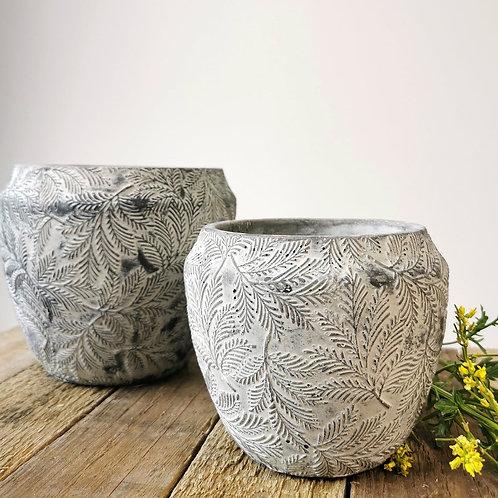 Ancient Leaf Flower Pots