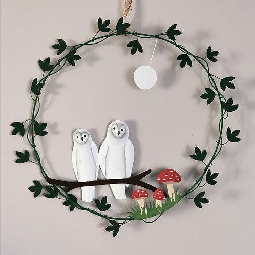 Barn Owl Wreath
