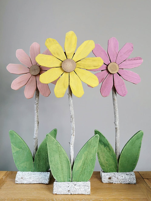 Large Whacky Wooden Flowers