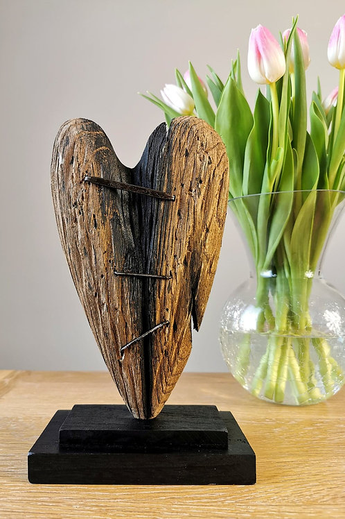 Mended Wooden Heart