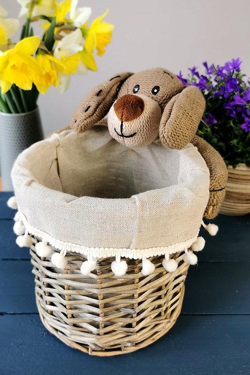 Puppy Basket Round