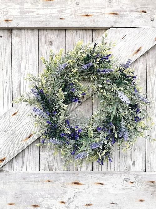 Lavender & Bellflower Summer Wreath