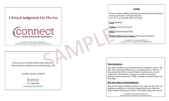 Connect RN2ED Clinical Judgment on the G