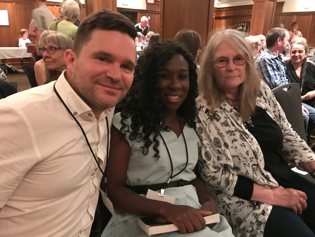 Steven Price, Esi Edyugan, and Susan Musgrave at EMLF 2018