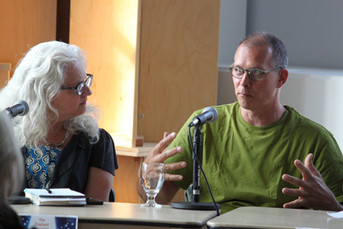 Kate Pullinger, Ian Johnstone on an EMLF panel discussion