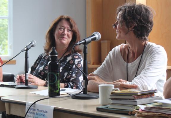 Marina Endicott and Bessie Wapp, panel discussion