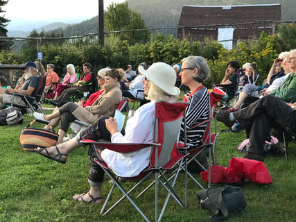 Plein Air audience at EMLF's Wine and Crime event, 2020