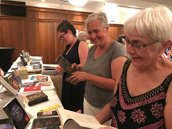 Local book table at EMLF 2019