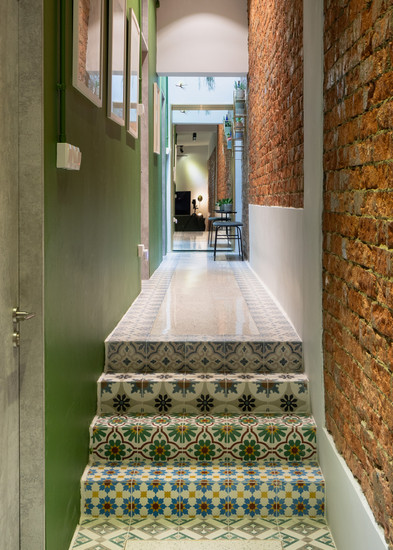 PI Architects; Tiong Bahru; Tiong Poh Road; Renovation; Retrofit; Design; Interior Design; Conservation; Public Housing; Eclectic; Colourful; Blue; Door; Cathedral Glass; Emerald Green; Royal Blue;