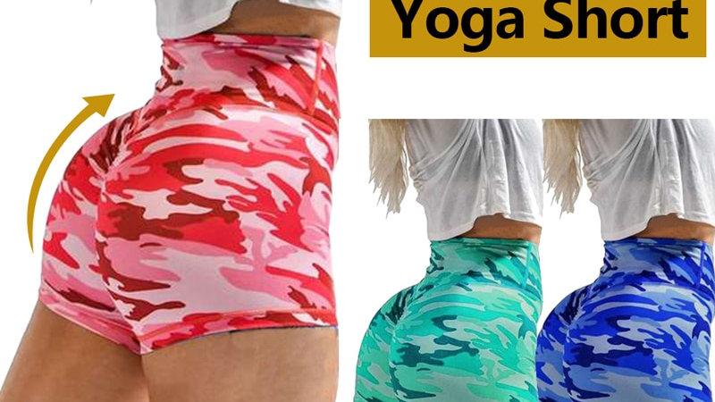 Fashion Women's Camouflage Scrunch Booty, Elastic High Waist