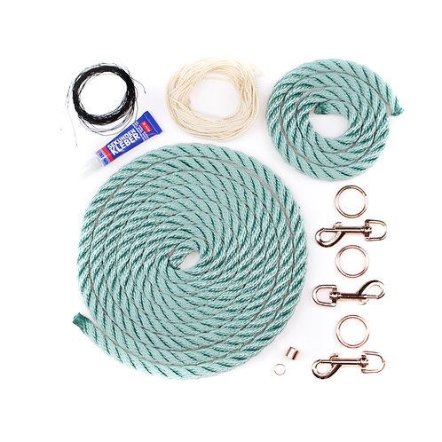 """DIY-Set """"Karabiner Halsband und Leine"""""""